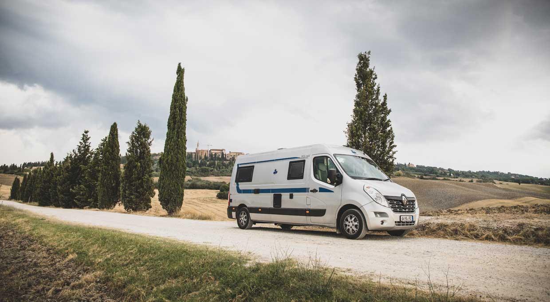 Mit dem Camper Van durch die Toskana