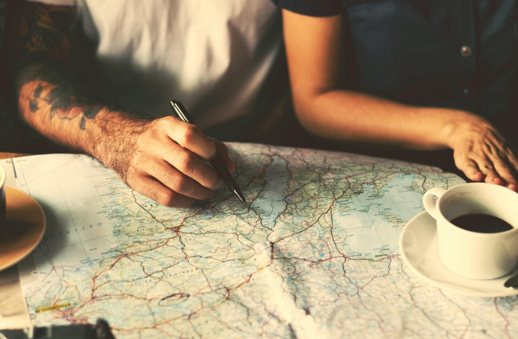 Bild von der Routenplanung