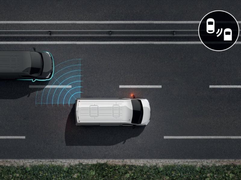Umfangreiche Fahrassistenzsysteme verfügbar, der Toter-Winkel Assistent warnt über die Seitenspiegel vor nicht einsehbaren Fahrzeugen.